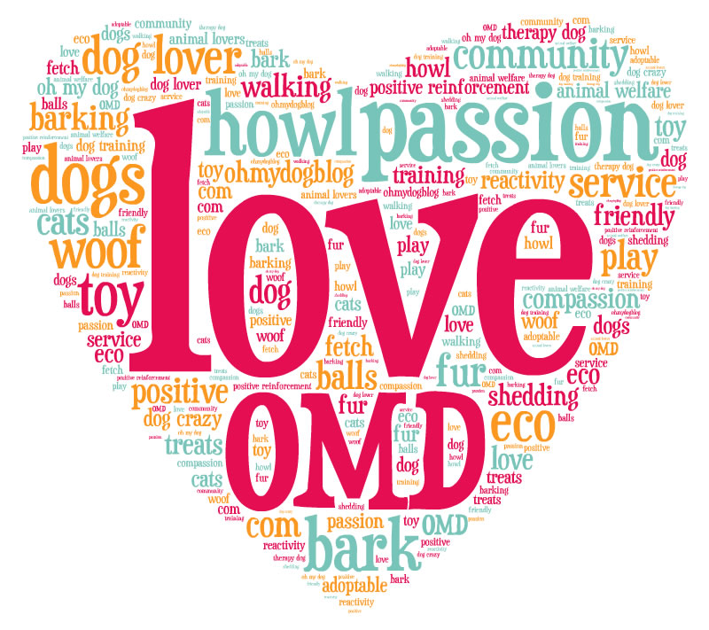 Puppy love word clouds - Oh My Dog!