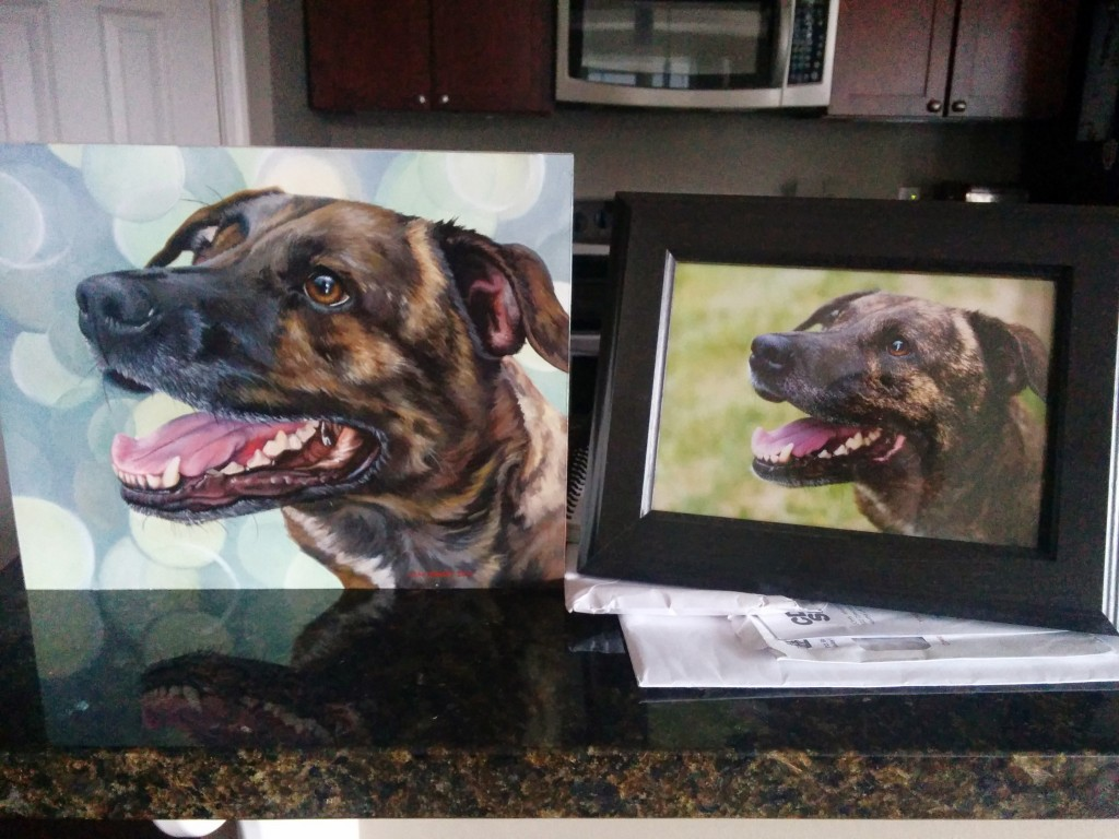 Emmett's finished portrait