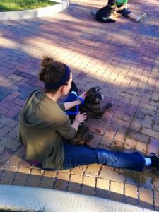 Lounging at doga