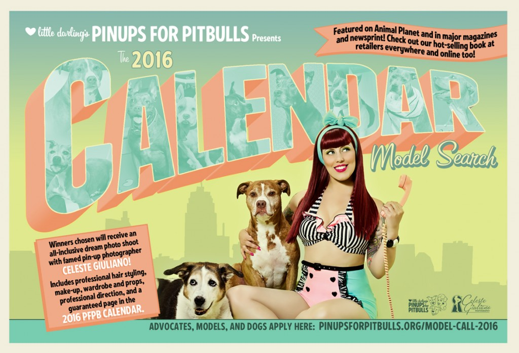 Pinups for Pitbulls 2016 model call is OPEN!