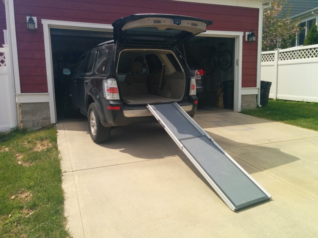 Solvit telescoping pet ramp