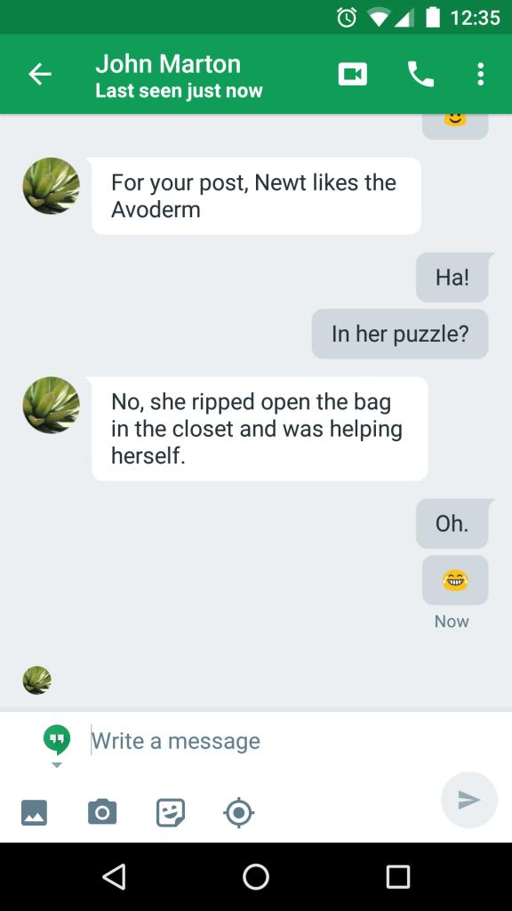 Newt likes AvoDerm