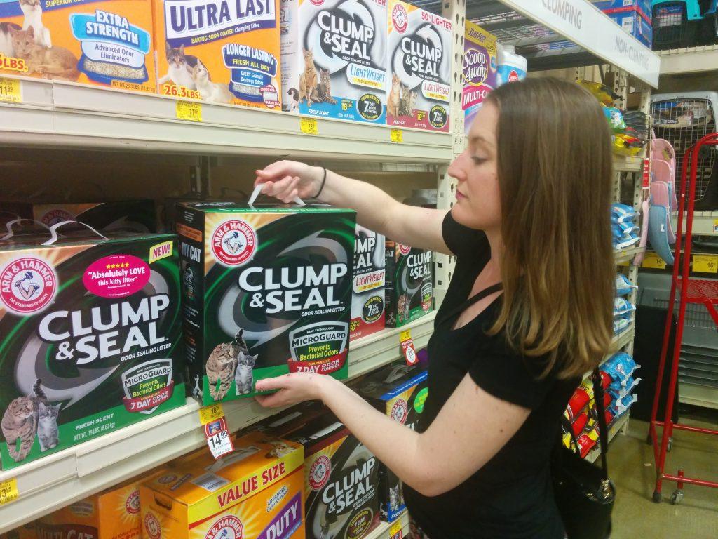 Buying CLUMP and SEAL at PetSmart