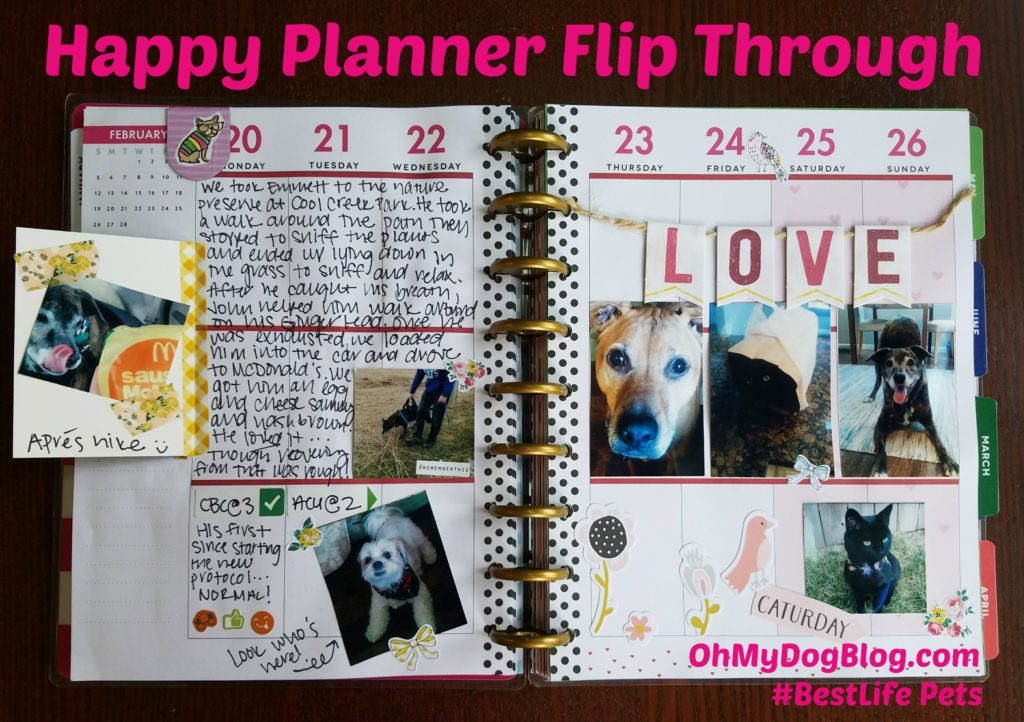 Happy Planner Flip Through OhMyDogBlog.com