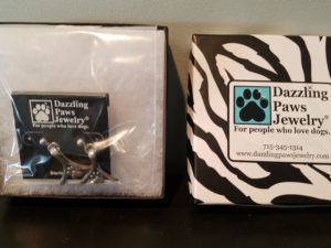 Dazzling Paws earrings